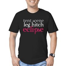 Tent Scene, Leg Hitch, Eclipse Men's Fitted T-Shir