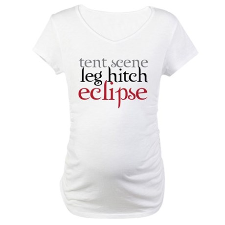Tent Scene, Leg Hitch, Eclipse Maternity T-Shirt