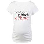 Tent Scene, Leg Hitch, Eclipse Maternity T-Shirt