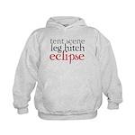 Tent Scene, Leg Hitch, Eclipse Kids Hoodie