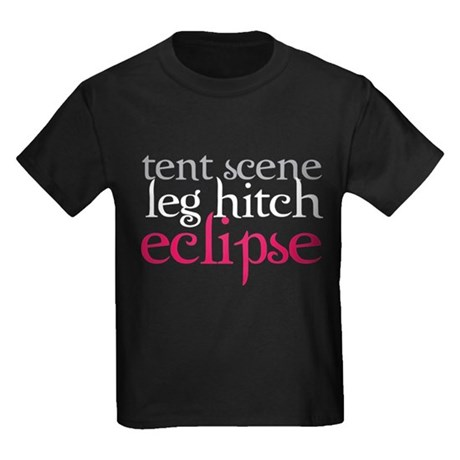 Tent Scene, Leg Hitch, Eclipse Kids Dark T-Shirt