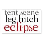 Tent Scene, Leg Hitch, Eclipse Sticker (Rectangle)