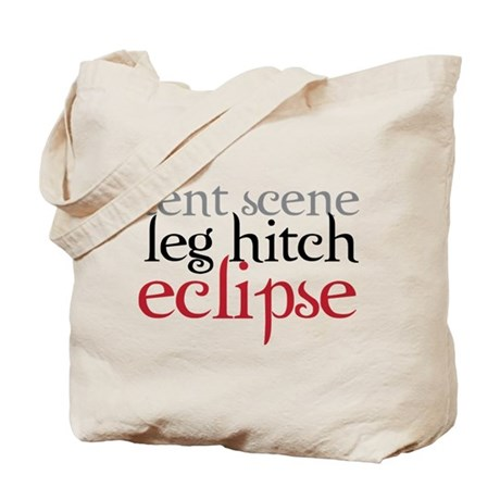Tent Scene, Leg Hitch, Eclipse Tote Bag