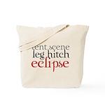 Tent Scene, Leg Hitch, Eclipse Tote Bag