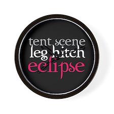 Tent Scene, Leg Hitch, Eclipse Wall Clock
