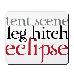 Tent Scene, Leg Hitch, Eclipse Mousepad