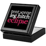 Tent Scene, Leg Hitch, Eclipse Keepsake Box