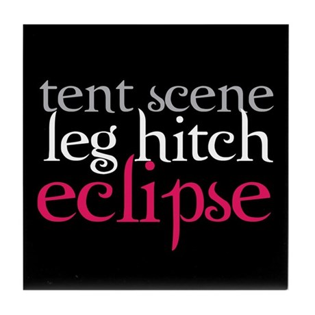 Tent Scene, Leg Hitch, Eclipse Tile Coaster