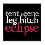 Tent Scene, Leg Hitch, Eclipse Tile Coaster