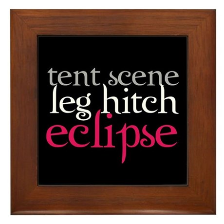 Tent Scene, Leg Hitch, Eclipse Framed Tile