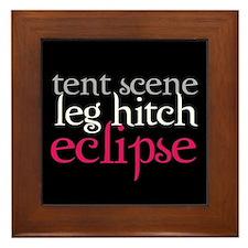 Tent Scene, Leg Hitch, Eclipse Framed Tile