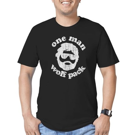 One Man Wolf Pack Men's Fitted T-Shirt (dark)