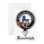 Randolph Clan Crest Badge Greeting Cards (Package