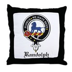 Randolph Clan Crest Badge Throw Pillow