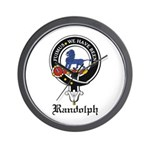 Randolph Clan Crest Badge Wall Clock