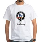 Randolph Clan Crest Badge White T-Shirt
