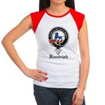 Randolph Clan Crest Badge Women's Cap Sleeve T-Shi