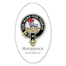 Clan MacDonald Oval Decal