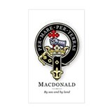 Clan MacDonald Rectangle Decal