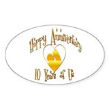 ANNIVERSARY Oval Decal