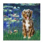 Lilies5-AussieShep (#5) Tile Coaster