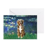Lilies5-AussieShep (#5) Greeting Cards (Pk of 10)