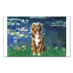 Lilies5-AussieShep (#5) Sticker (Rectangle 10 pk)