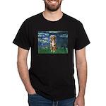 Lilies5-AussieShep (#5) Dark T-Shirt