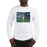 Lilies5-AussieShep (#5) Long Sleeve T-Shirt