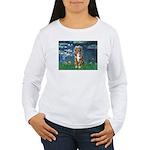 Lilies5-AussieShep (#5) Women's Long Sleeve T-Shir