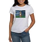 Lilies5-AussieShep (#5) Women's T-Shirt