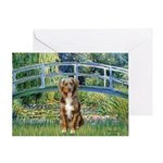 Bridge-Aussie Shep (#5) Greeting Card