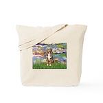Lilies2-Australian Shep (#5) Tote Bag
