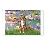 Lilies2-Australian Shep (#5) Sticker (Rectangle)
