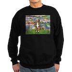 Lilies2-Australian Shep (#5) Sweatshirt (dark)