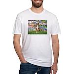 Lilies2-Australian Shep (#5) Fitted T-Shirt