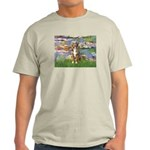 Lilies2-Australian Shep (#5) Light T-Shirt