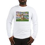 Lilies2-Australian Shep (#5) Long Sleeve T-Shirt