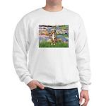 Lilies2-Australian Shep (#5) Sweatshirt