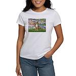 Lilies2-Australian Shep (#5) Women's T-Shirt