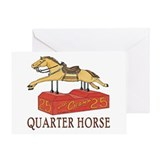"""QUARTER HORSE"" Greeting Card"