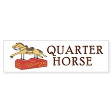 """QUARTER HORSE"" Bumper Sticker"