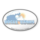 Bogue Banks NC - Waves Design Decal