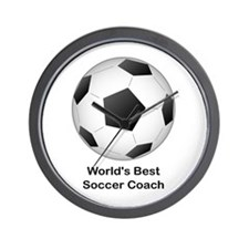 World's Best Soccer Coach Wall Clock