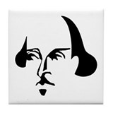 Simple Shakespeare Tile Coaster