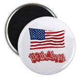 "We The People w/Flag 2.25"" Magnet (100 pack)"