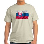 Wavy Slovakia Flag Light T-Shirt