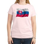 Wavy Slovakia Flag Women's Light T-Shirt