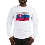 Wavy Slovakia Flag Long Sleeve T-Shirt