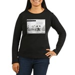 Cash Cow Women's Long Sleeve Dark T-Shirt
